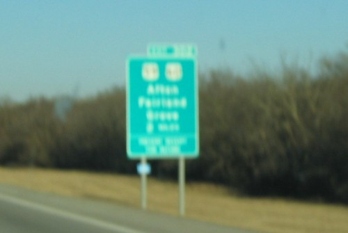 Yes, that blur at the top of the sign says 'Afton'